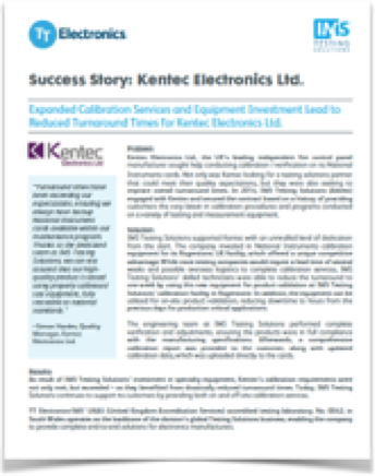 TT Electronics-IMS Kentec Electronics Success Story